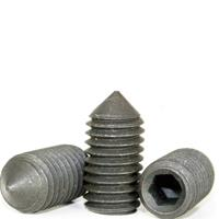 Cone Point Socket Set Screws, Black Oxide, Metric Coarse (M1.4-0.30), (M1.6-0.35), (M2-0.40), (M2.5-0.45), (M3-0.50), (M4-0.70), (M5-0.80), (M6-1.00), (M8-1.25), (M10-1.50), (M12-1.75), (M16-2.00), (M20-2.50), (M24-3.00)