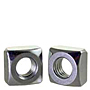 Square Nuts, Grade 2, National Coarse, Zinc Plated Steel