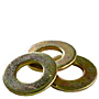 256-SAE-FLAT-WASHER-ZINC-YELLOW
