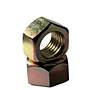 Hex Nuts, Grade 2, National Coarse & Fine, Yellow Zinc
