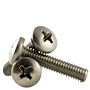 18-8 Stainless Steel Phillips Pan Head Machine Screws, National Coarse (2 in-56), (4 in-40), (5 in-40), (6 in-32), (8 in-32), (10 in-24), (12 in-24), (1/4 in-20)