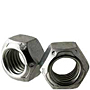 Hex Metal Cone Lock Nuts, Grade C, National Coarse & Fine, Zinc Plated Steel