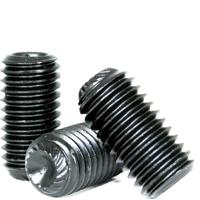 Knurled Cup Point Socket Set Screws, National Coarse & Fine