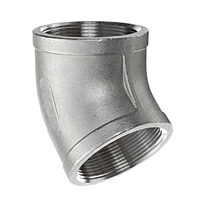 45 DEGREE ELBOW STAINLESS STELL PIPE FITTING