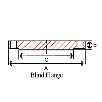 2321-blind-raised-face-flange-dimensions
