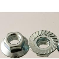 Hex Serrated Flange Nuts, Class 8, Metric Coarse, Zinc Plated Steel