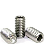 Cup Point Socket Set Screws, Metric 18-8 Stainless Steel, Coarse (M1.6-0.35), (M2-0.40), (M2.5-0.45), (M3-0.50), (M4-0.70), (M5-0.80), (M6-1.00), (M8-1.25), (M10-1.50), (M12-1.75), (M16-2.00)