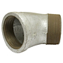 45 DEGREE STREET ELBOW GALVANIZED STEEL PIPE FITTING