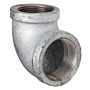 REDUCING 90 DEGREE ELBOW GALVANIZED STEEL PIPE FITTING