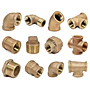 GROUP THREADED BRONZE PIPE FITTINGS