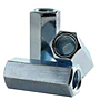 Coupling Nuts, Zinc Plated Steel