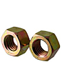 Hex Nuts, Grade 8, National Coarse & Fine, Yellow Zinc
