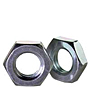 Hex Jam Nuts, Class 4, Metric Coarse, Zinc Plated Steel