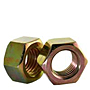 Hex Nuts, Grade 5, National Coarse, Yellow Zinc