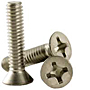 18-8 Stainless Steel Phillips Flat Head Machine Screws, National Coarse (0 in-80), (2 in-56), (4 in-40), (6 in-32), (8 in-32), (10 in-24), (10 in-32), (12 in-24), (1/4 in-20), (5/16 in-18), (3/8 in-16)