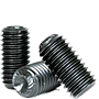 Knurled Cup Point Socket Set Screws, Black Oxide, Metric Coarse (M3-0.50), (M4-0.70), (M5-0.80), (M6-1.00), (M8-1.25), (M10-1.50), (M12-1.75), (M16-2.00), (M20-2.50), (M24-3.00)