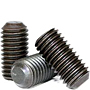 Flat Point Socket Set Screws, Black Oxide, Metric Coarse (M2-0.40), (M2.5-0.45), (M3-0.50), (M4-0.70), (M5-0.80), (M6-1.00), (M8-1.25), (M10-1.50), (M12-1.75), (M14-2.00), (M16-2.00)
