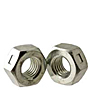 Hex Lock Nuts Reversible, Grade A, National Coarse & Fine, Zinc Plated Steel
